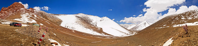 Panorama Mountains in Namco, Tibet Stock Image