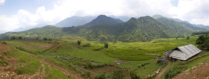 Panorama of mountains near Sapa Royalty Free Stock Photography
