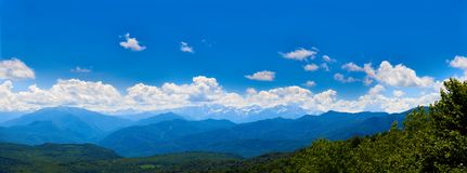 Panorama of the mountains of the North Caucasus Royalty Free Stock Image