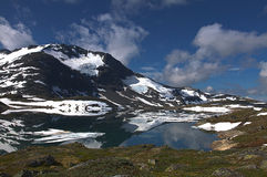 Panorama of mountains in Norway. Panorama of mountains wirt snow in Norway Stock Photography