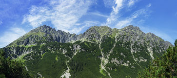 Panorama of mountains Royalty Free Stock Images
