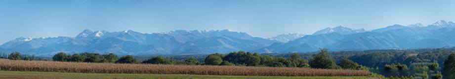 Panorama of mountains Pyrenees Royalty Free Stock Photos