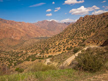 Panorama of the mountains with the road Stock Photo