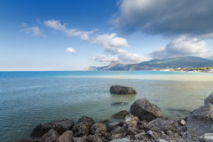Panorama of the mountains of Sudak Royalty Free Stock Images