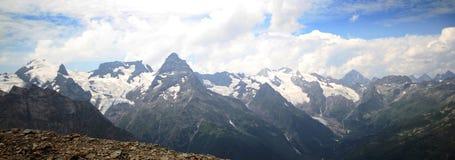 Panorama of mountains. Summerlandscape. Panorama of mountains .Summer mountain landscape Stock Photography