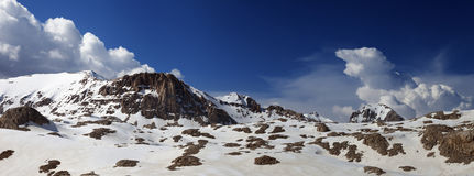 Panorama mountains in sunny day Royalty Free Stock Photography