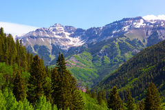 Panorama of the mountains surrounding Telluride in Colorado, USA. Stock Photography