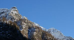 Panorama mountains under a perfect blue sky. In Italy Royalty Free Stock Photo