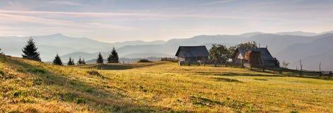 Panorama of the mountains village Royalty Free Stock Photos