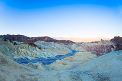 Panorama of mountains in the Zabriskie point Royalty Free Stock Photos