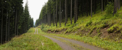 Panorama of moutain road Royalty Free Stock Photography