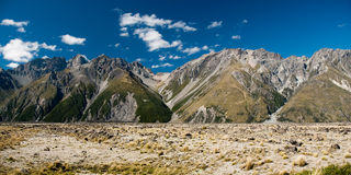 Panorama in mt cook national park Royalty Free Stock Images