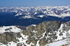 Panorama from Mt Evans Royalty Free Stock Images