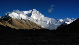 Panorama of Mt.Everest Stock Images