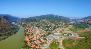 Panorama of Mtskheta, Georgia Stock Images