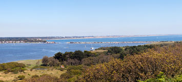 Panorama of the Mudeford Sandspit Royalty Free Stock Image