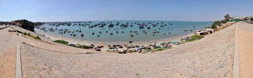 Panorama of Mui Ne fishing village, Vietnam Stock Image