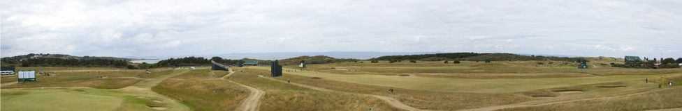 Panorama of Muirfield before 2013 British Open Stock Photo