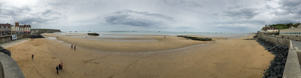 Panorama of Mulberry Harbour Stock Photos