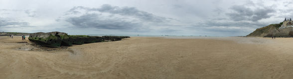 Panorama of Mulberry Harbour Stock Images
