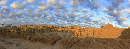 Panorama - Mungo nationaal park, NSW, Australië Royalty-vrije Stock Fotografie