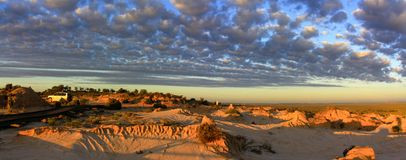 Panorama - Mungo national park, NSW, Australia. Beautiful  mungo national park, NSW, Australia Royalty Free Stock Photography