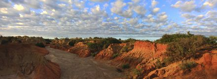 Panorama - Mungo national park, NSW, Australia Stock Image