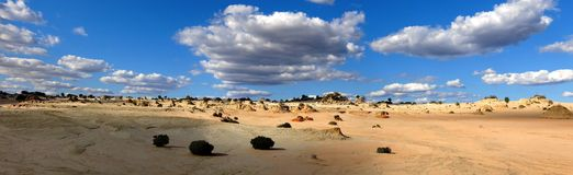 Panorama - Mungo national park, NSW, Australia. Beautiful  mungo national park, NSW, Australia Royalty Free Stock Images