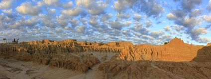 Panorama - Mungo national park, NSW, Australia Royalty Free Stock Photography