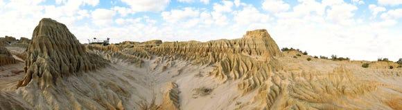 Panorama - Mungo national park, NSW, Australia Royalty Free Stock Photo