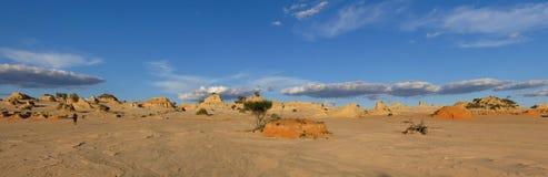 Panorama - Mungonationalpark, NSW, Australien Arkivfoton