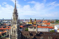 Panorama of Munich, Germany Royalty Free Stock Photos