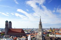 Panorama of Munich, Germany Stock Photos