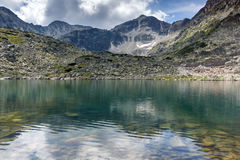 Panorama Musalenski jezior amd Musala szczyt, Rila góra Obrazy Royalty Free