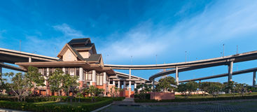 Panorama of Museum of  Industrial Ring Road Bridge Royalty Free Stock Image