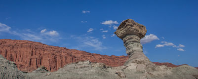 Panorama of the mushroom rock in Ischigualasto provincial park Stock Photo
