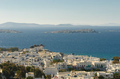 Panorama of Mykonos, Greece Royalty Free Stock Photos