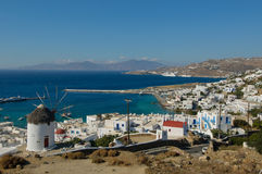 Panorama of Mykonos, Greece Stock Photo