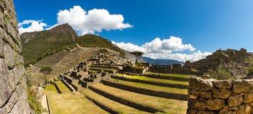 Panorama of Mysterious city - Machu Picchu, Peru,South America. The Incan ruins. stock image