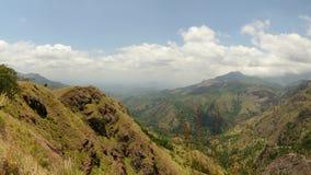Panorama na diferença de Ella, país do monte, destino do curso em Sri Lanka video estoque