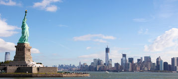 Panorama na Manhattan obraz stock