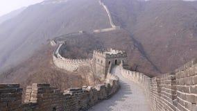 Panorama na wielkim murze Porcelanowe wieże obserwacyjne zbiory wideo