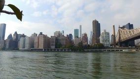 Panorama nabrzeża Roosevelt wyspa Manhattan zbiory wideo