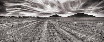 Panorama-Nachtisch lizenzfreies stockbild