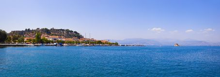 Panorama of Nafplion, Greece Royalty Free Stock Images