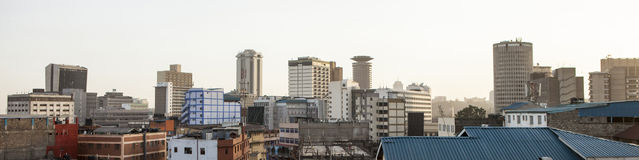 Panorama of Nairobi, Kenya. Panorama of downtown district of Nairobi, Kenya Stock Photography
