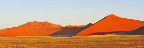 Panorama of the Namib near Sossusvlei Royalty Free Stock Photography