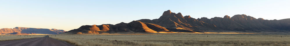 Panorama of the Namibrand area in Namibia Royalty Free Stock Photos