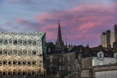 Panorama of Nantes at sunset Royalty Free Stock Images