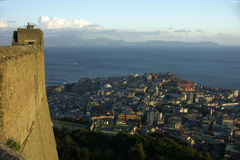 Panorama of naples Stock Image